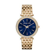 Michael Kors Women's MK3406 Darci Blue Dial Crystal Bezel Gold-Tone Steel Watch