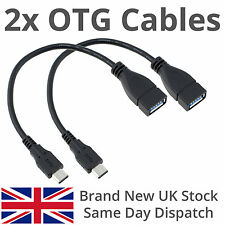 2x Micro USB to Female USB OTG On The Go Adapter Cable for Asus Google Nexus 7