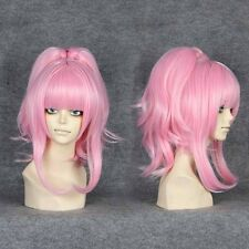 45cm Code Geass-Anya Alstreim Pink Anime Cosplay wig+1 Clip On Ponytail 029A