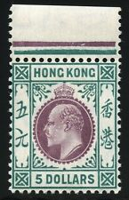 Hongkong 1905 King Edward VII. $5 Wmk Multiple Crown CA Margin ** MNH