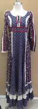 Vintage 70's Gunne Sax by Jessica Festival Boho Peasant Floral Maxi Dress Size 7