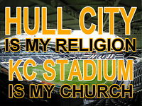 Hull City is my Religion KC Stadium is my Church  Metal Sign  (Aluminium)