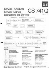 Dual Service Manual für CS 741 Q