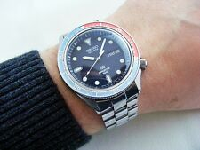 RARE JAPAN STEEL SEIKO 7546 6040 D/D PEPSI DIVER VINTAGE WRISTWATCH FROM 1980'S!