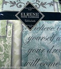 Elrene Inspirational Quotes Vinyl Flannel Backed Tablecloth 60 Round