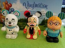 """DISNEY Vinylmation 3"""" Park Set 1 101 Dalmatians Lot Cruella De Vil Penny Anita"""