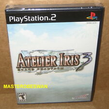 PS2 Atelier Iris 3: Grand Phantasm New Sealed (Sony PlayStation 2, 2007)