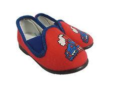 Children's Red, Treno Design Mocassini Pantofole-Taglia 4 neonato