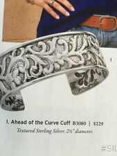 "Silpada Textured  Sterling Silver ""Ahead of the Curve Cuff""  Bracelet B3080 NEW!"