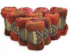 10 x 50g tons de rouges noro silk garden-sh 84