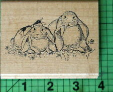 Lop Eared Bunny Rabbits rubber stamp by Embossing Arts Co.