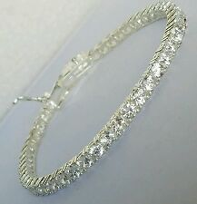 Woman's Sterling Silver 925 round man made diamond tennis bracelet 7 inches long