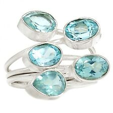 Blue Topaz 925 Silver Ring Jewelry s.7 SR202326