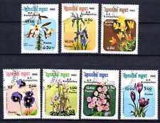 Flore - Fleurs Kampuchéa (62) série complète de 7 timbres oblitérés