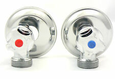 New Washing Machine Laundry Chrome Tap Set 1/4 turn Stops 65mm long