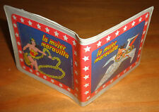 WONDER WOMAN ARGENTINA party favor VINTAGE plastic Wallet toy DC Comics RARE