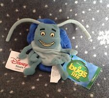 "DISNEYSTORE A BUGS LIFE TUCK 8"" TALL SOFT PLUSH BEANIE TOY BNWT"