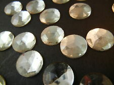 144pc 9mm Quality Czech Crystal Flatback Gold Backed Rhinestone Cabochons Clear