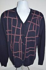 VERSACE Man's Virgin Wool Blend Cardigan Sweater NEW  Size Large  Retail $675