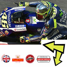 Valentino Rossi Moto GP Arrow Yoke Fluorescent Vinyl Decal Sticker 45mm F169