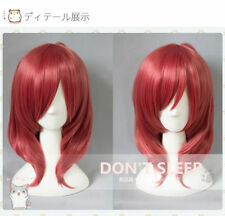 Short Dark Red Cosplay Wigs Hair Love Live! Nishikino Maki