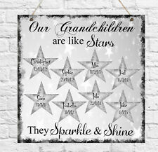 Personalised Plaque Birthday Mum Nanny Grandma Family Grandchildren Gift Present