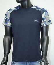 Hugo Boss Men`s T-shirt Blue Camouflage Size:3XL SALE