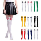 New Women High Striped Over Knee Long Socks Stocking Stripe Tube Soccer Football