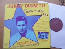 JOHNNY BURNETTE/THE ROCK 'N' ROLL TRIO,TEAR IT UP lp vg+/vg+ solid smoke records
