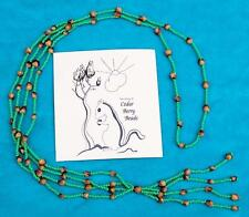 "NATIVE AMERICAN NAVAJO ""GHOST BEADS"" NECKLACE GREEN"