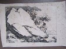 GRAVURE 1820 NICOLAS TOUSSAINT CHARLET SCÈNE MILITAIRE DÉCOUVRANT UN CORPS