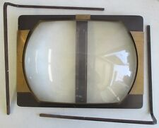 "1940's WALCO TELE-VUE LENS 16"" TV SCREEN MAGNIFIER GLASS ENLARGER"