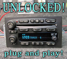 UNLOCKED! 2003 2004 2005 CHEVY GM GMC TRUCK SUV STEREO RADIO 6 CD DISC CHANGER