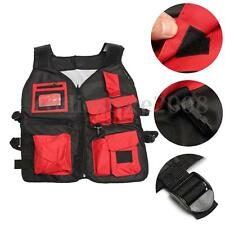 Red Electrician Carpenter Plumber Craftman Construction Pouch Bag Tool Vest NEW