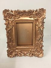 Vintage Ornate Copper Rose Gold Rococo/Baroque French Gilt Picture Frame