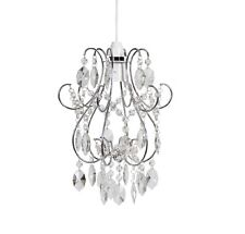 Modern Chrome with Jewels Easy Fit Chandelier Pendant Ceiling Light Shade NEW