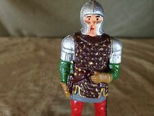 Vintage Medieval Lead Foot Soldier on Black Plastic Stand! Found in Vintage Lot!