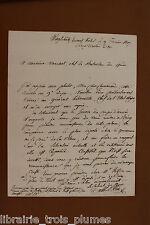 ✒ L.A.S. colonel Ange François BLEIN au commandant MARESCOT campagne de PRUSSE 1