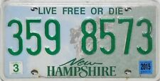 NEW Hampshire License Plate, TARGA ORIGINALE USA 359 8573 FOTO ORIGINALE