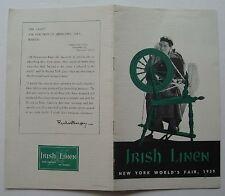 Brochure For The Irish Linen 1939 Worlds Fair