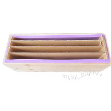 Loaf Soap Mold Silicone Wooden Box Acrylic Render Board 3+2 Swirling Soap Making