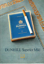 PUBLICITE ADVERTISING 114  1979  DUNHILL  cigarettes SUPERIOR MILD