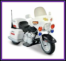 Ride On Police Toy Motorcycle 12v Battery Powered Electric Cars for Kids Child