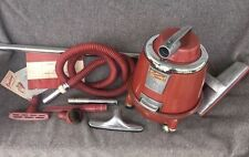 Mid Century Modern Saniway Mark IV Canister Style Vacuum Cleaner w/ Attachments