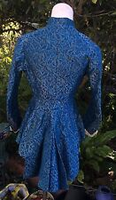 Victorian Antique Silk Brocade  Evening Jacket Dress Mrs E Donigan Modes 1880's
