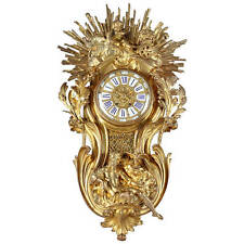 A French Louis XV Style Gilt Bronze Wall Clock