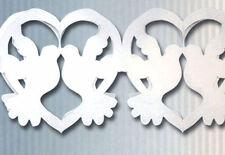 Guirlande colombes et cœurs blancs 360 cm Mariage Cérémonie decoration de salle