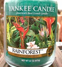 "Yankee Candle Retired ""RAINFOREST"" Fresh Scented Large 22 oz. Size Jar NEW!"