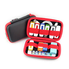 Red/Black Portable Carry Case Organiser Small,Multiple USB Stick,Memory Cards