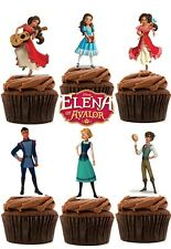 PRINCIPESSE della Disney di Elena avalor wafer commestibile carta stand up DECORAZIONI PER TORTA X 18